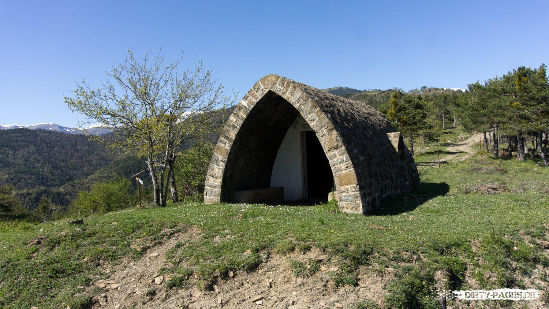 Refugio (unbewirtschaftete Hütte) in den Pyrenäen
